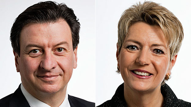 Corrado Pardini und Karin Keller Sutter. Portraitbilder.