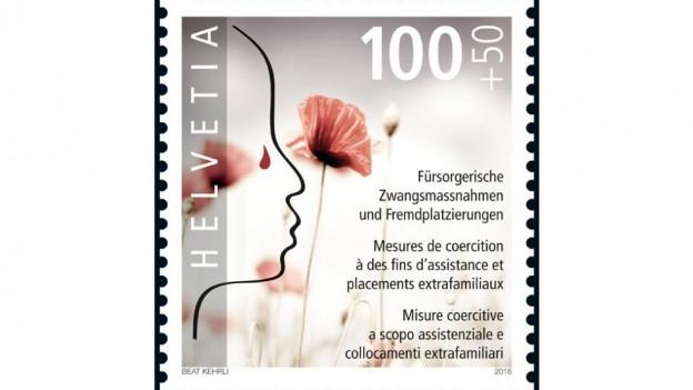 Sonderbriefmarke der Post.