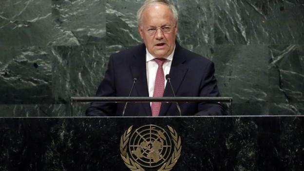 Bundespräsident Johann Schneider-Ammann spricht vor der UNO..