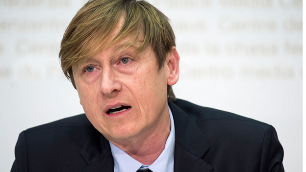 Stefan Meierhans, Preisüberwacher, anlässlich der Jahresmedienkonferenz vom 26. Februar 2016.