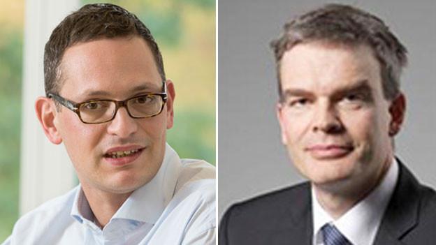 Mark Herkenrath von Alliance Sud (links) und Jan Atteslander von Economiesuisse.