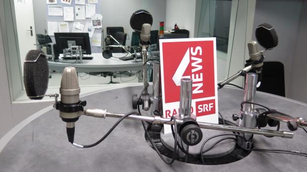Das Studio von SRF4News diesmal ohne Gäste