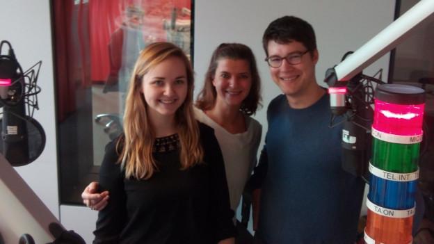 Die Teilnehmer des Medientalks im Radiostudio Zürich.