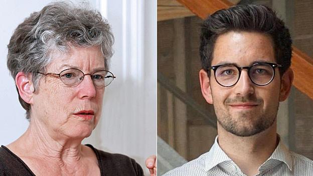 Heidi Witzig und Benedikt Knüsel. Portraitbilder.