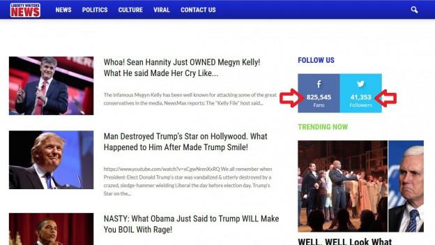 Fake-News: Eines von vielen Portalen, das Geld macht mit Falschmeldungen.