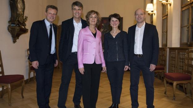 Der neue Berner Gemeinderat mit nur einem Bürgerlichen.