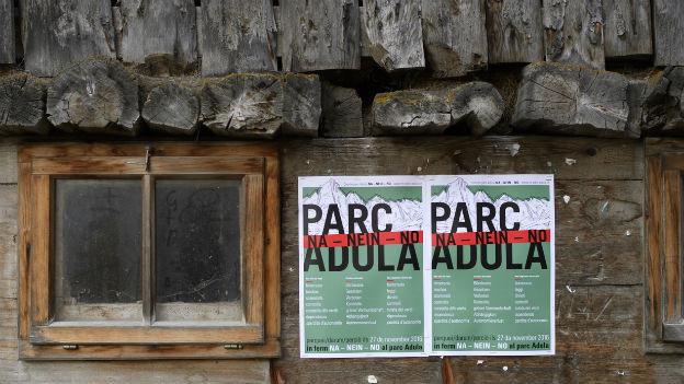 Der Adula Nationalpark bleibt ein Plan