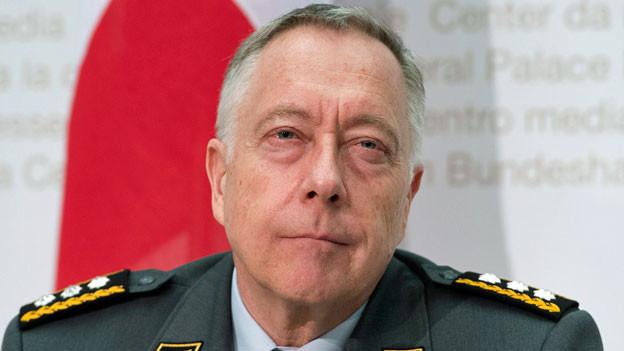 André Blattmann, Chef der Armee, kommuniziert am 23. März 2016 seinen vorzeitigen Abgang.