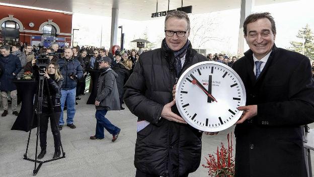 Andreas Meyer und Marco Borradori stellen die Uhren neu