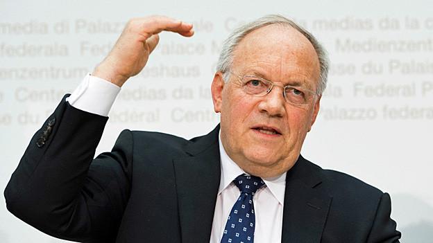 Bundesrat Johann Schneider-Ammann, am 11. Januar an der Medienkonferenzim Bundeshaus.