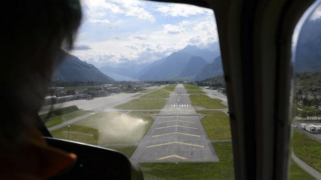 Direkter Flug von London nach Sion