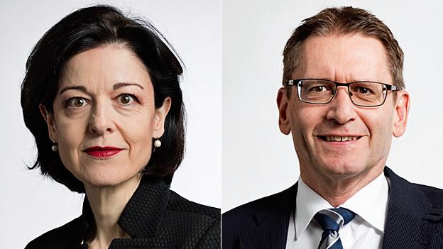 Regina Sauter und Pirmin Bischof. Portraitbilder.