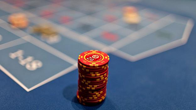 Roulettespiel im Casino Baden.