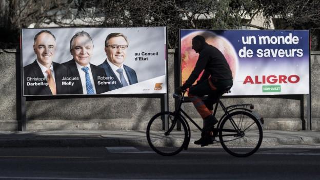 Lächelnde CVP-Kandidaten VOR der Wahl - bei der Regierungswahl braucht es eine Stichwahl.