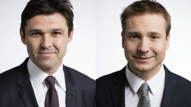 Das Bild zeigt SP-Nationalrat Matthias Aebischer und FDP-Nationalrat Philippe Nantermod.