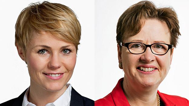 Natalie Rickli und Edith Graf-Litscher. Portraitbilder.