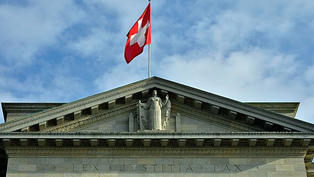 Blick auf das Bundesgericht in Lausanne.