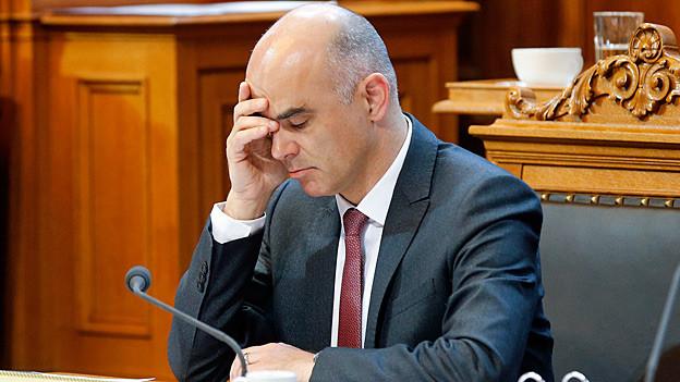 Bundesrat Alain Berset am Donnerstagmorgen im Ständerat.