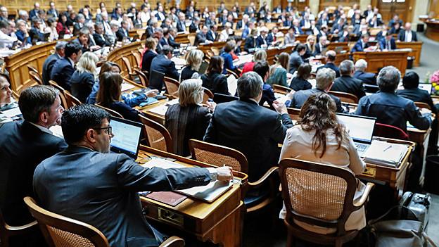 Blick in den Nationalratssaal – während der Abstimmung über die «Altersvorsorge 2020».