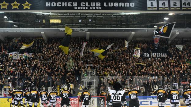 Der HC Lugano feiert das Halbfinale