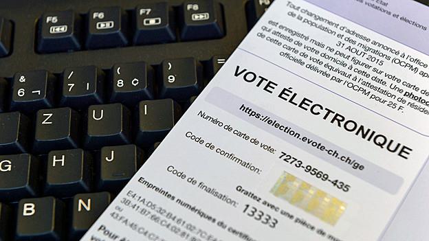 Wahlunterlagen der eidgenössischen Wahlen 2015 in Genf.