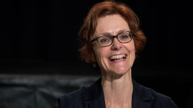 Monika Rühl, Vorsitzende der Geschäftsleitung Economiesuisse, spricht an einem Podium der italienischen Schweiz zur Stellung der Schweizer Industrie in Europa am 2. Mai 2016 in Lugano.