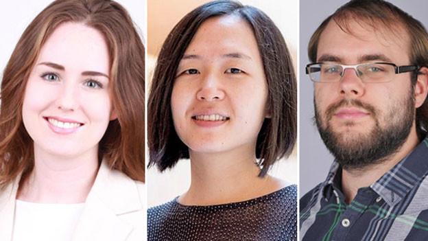 Viviane Soldenhoff, Shuting Ling und Jonas Waeber (von links).