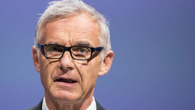 Urs Rohner, Präsident der Credit Suisse, an der GV im Hallenstadion in Zürich am 28.4.2017.
