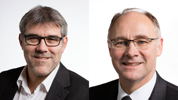 Eric Nussbaumer, Nationalrat SP (links im Bild); Hansjörg Knecht, Nationalrat SVP.