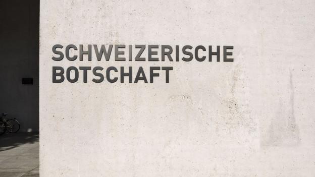 Die diplomatische Vertretung der Schweiz in Berlin.
