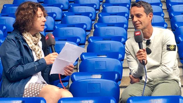Susanne Brunner interviewt FCB-Präsident Bernhard Heusler