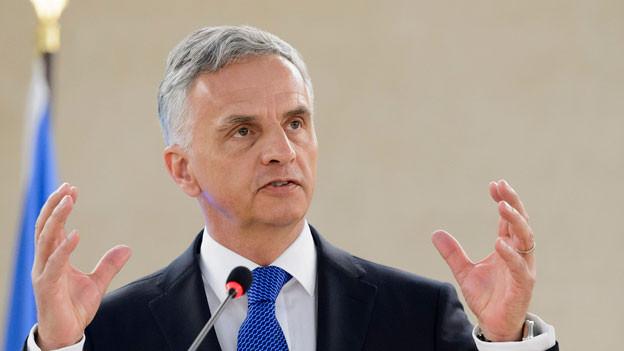 Bundesrat Didier Burkhalter.
