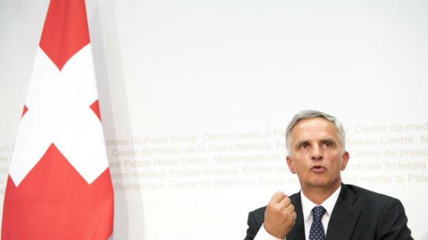 Didier Burkhalter spricht über seinen Rücktritt