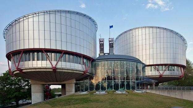 Gebäude des Europäischen Gerichtshofes für Menschenrechte in Straßburg.