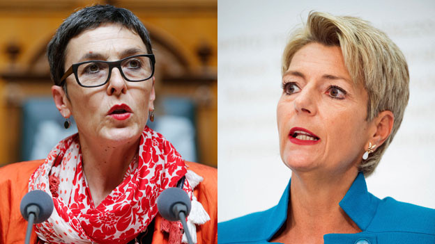 SP-Vizepräsidentin Barbara Gysi (li.) und FDP-Ständerätin Karin Keller Sutter.