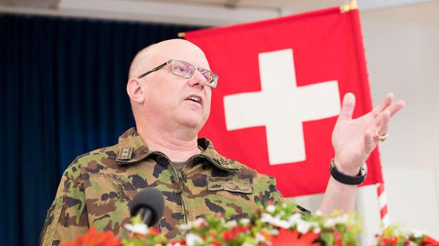 Philippe Rebord, Chef der Schweizer Armee.