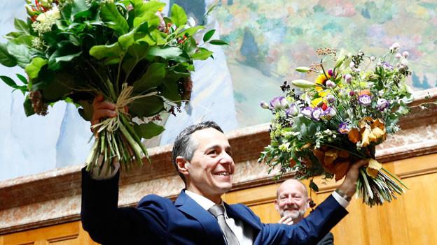 Ignazio Cassis nach der Wahl zum Bundesrat am 20. September 2017.