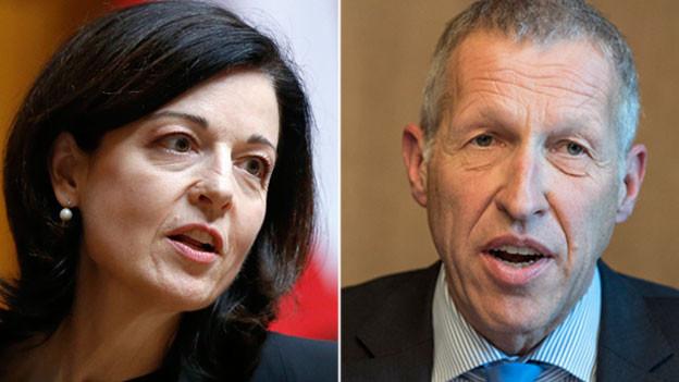 Nationalrätin Regine Sauter, FDP-ZH, und Ständerat Konrad Graber, CVP-LU.