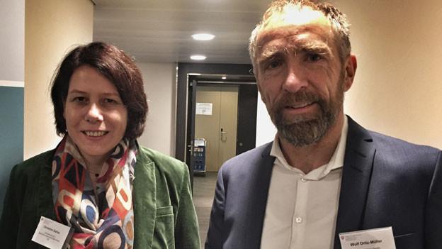 Christine Gallas, Psychotherapeutin in Mannheim und Wolf Ortiz-Müller, Stalking-Experte in Deutschland.