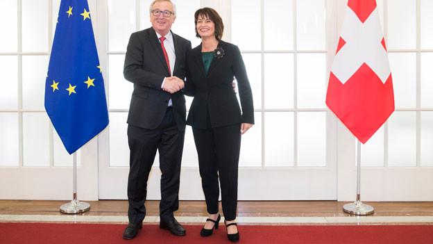 Jean-Claude Juncker und Doris Leuthard.