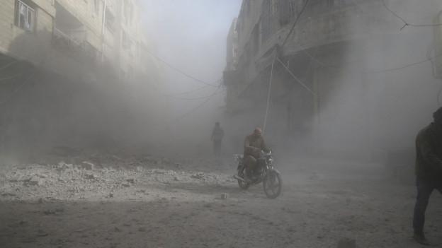 Ein Bild aus der zerbombten Stadt Damaskus