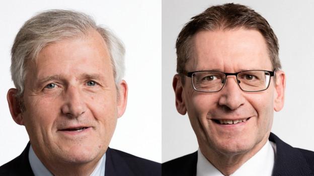 Hans Stöckli (l.) und Pirmin Bischof.