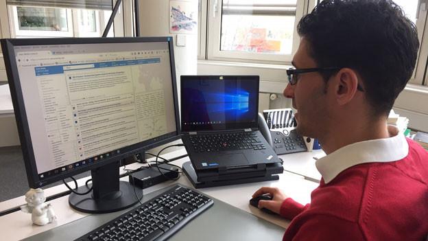 Vincenzo Francolino ist Doktorand an der HTW Chur.