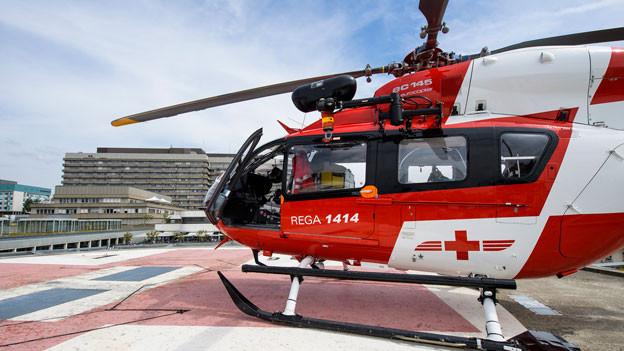 Helikopter der Rega.
