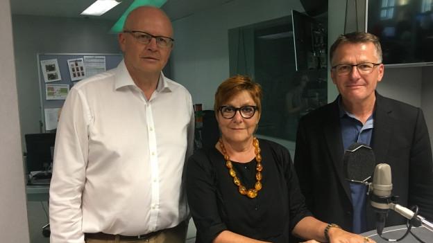 Zu sehen von links nach rechts: Hugo Schittenhelm, Cécile Bühlmann, Thomas D. Meier