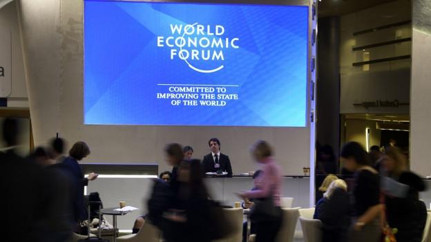 Veranstaltung am WEF in Davos. Auch die ETH nutzt die Gelegenheit zum Networking.