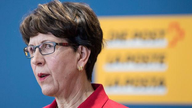 Susanne Ruoff, Konzernleiterin der Schweizerischen Post AG, kann aufatmen.