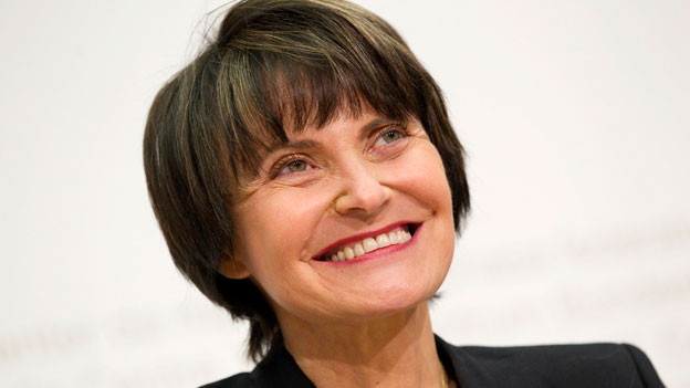 Die damalige Bundespräsidentin Micheline Calmy-Rey am 7. September 2011.