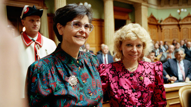 Ruth Dreifuss und Christiane Brunner.