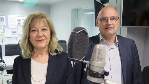 Intensive Diskussion: Susanne Leutenegger Oberholzer (SP) und Alfred Heer (SVP).